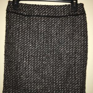 Ann Taylor Petite Tweed Skirt